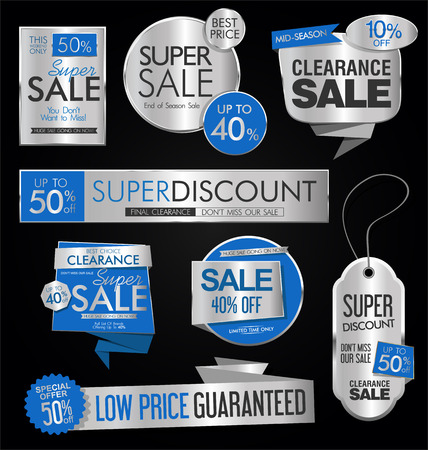 Sale stickers and tags collection vector illustration