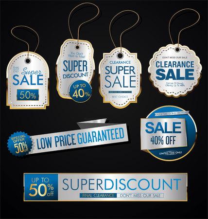 Vintage Style Sale Tags Design collection
