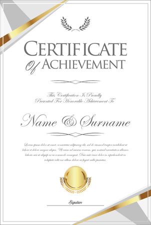 certificate or diploma retro template 向量圖像