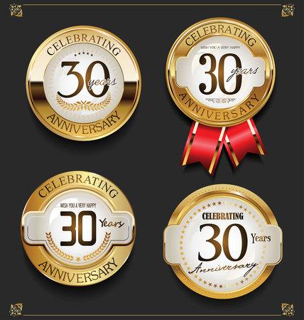 Collezione di eleganti sfondi per l'anniversario d'oro