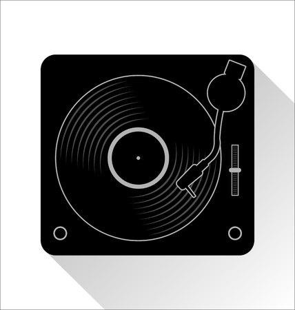 Vinyl record disc flat simple concept