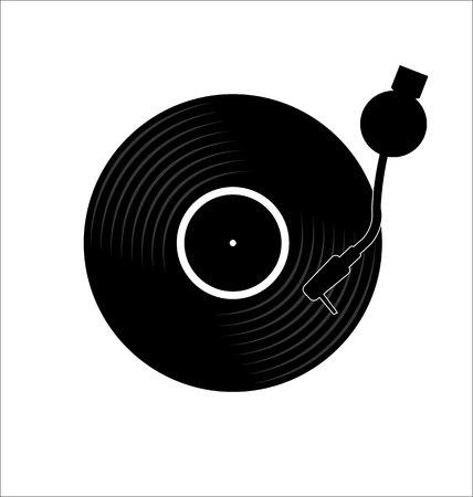 Vinyl record disc flat simple concept Vecteurs