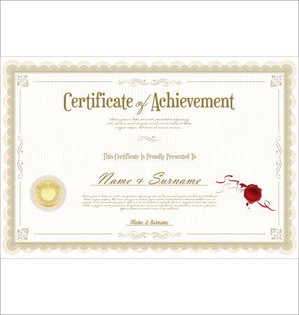 certificate retro template Vector Illustration