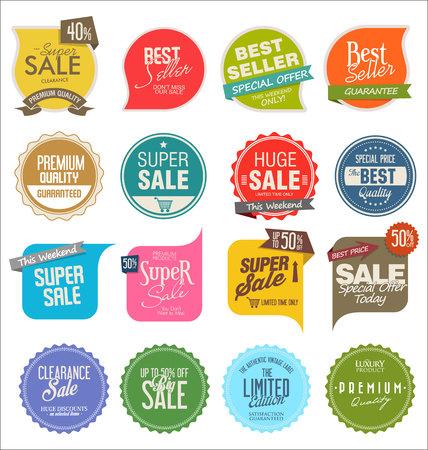 autocollants de vente modernes