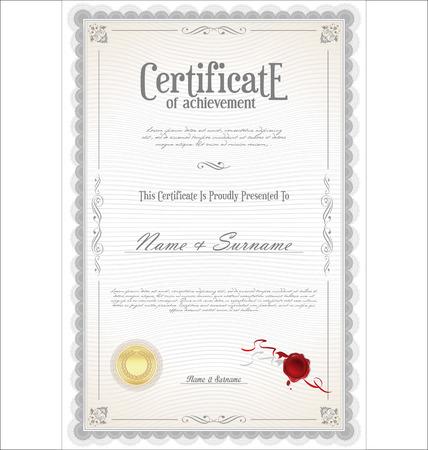 certificate Vektoros illusztráció
