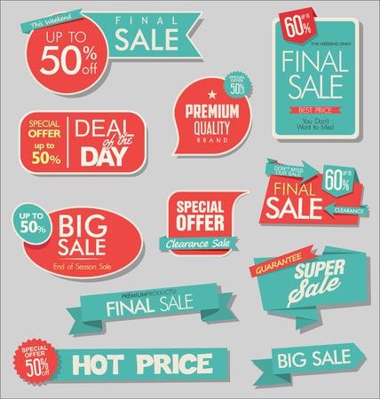 modern sale stickers
