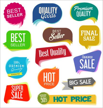 moderne verkoopstickers Vector Illustratie