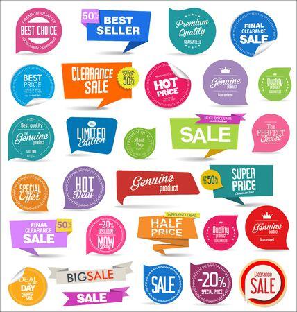 Price tag retro vintage collection vector illustration Ilustración de vector