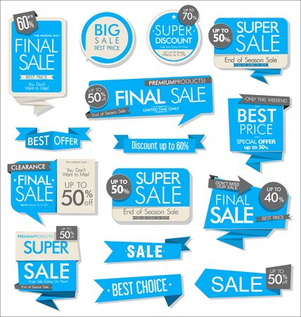 modern colorful sale stickers collection