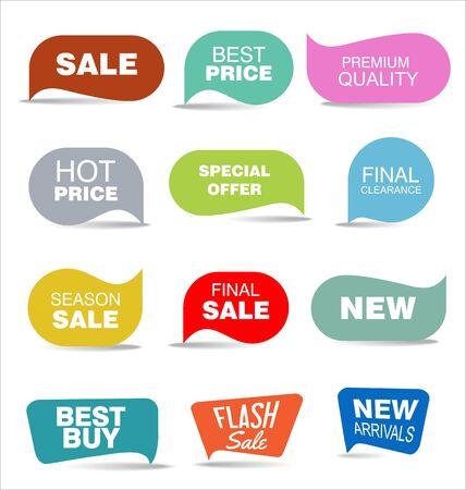 nowoczesna kolekcja kolorowych naklejek na sprzedaż