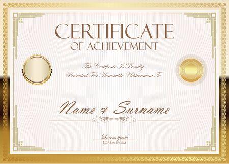 certificate or diploma retro design Ilustrace
