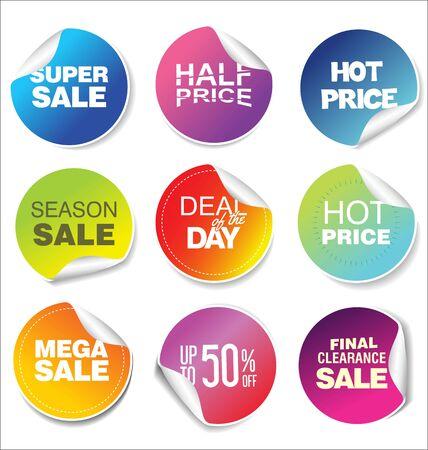moderna collezione di adesivi colorati in vendita