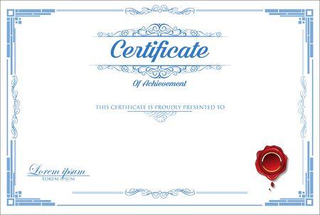 certificate or diploma retro design Çizim