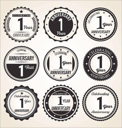 sfondo anniversario Vettoriali
