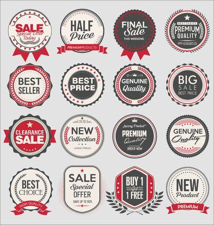Retro-Vintage-Abzeichen und Etiketten