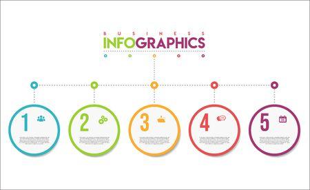 modèle de conception colorée infographie moderne