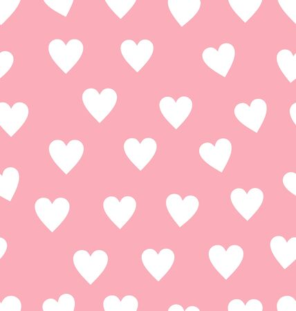 seamless red heart pattern background Foto de archivo - 138296427
