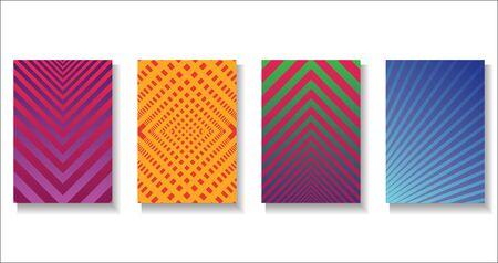 Halftone dots modern colorful design future geometric patterns Ilustracja