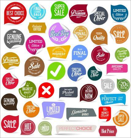 Wyprzedaż szablonów banerów i kolekcji tagów oferty specjalnej