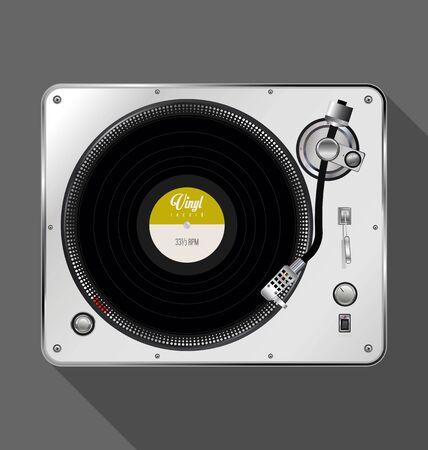 Fond de design rétro tourne-disque