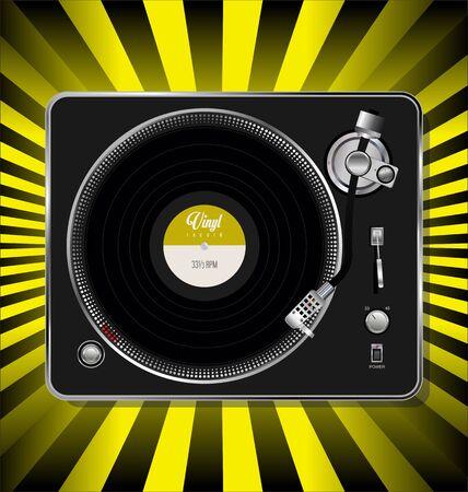 Record player retro design background