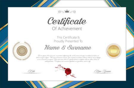 certificate or diploma retro design 矢量图像