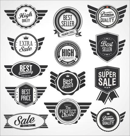 Retro vintage badges and labels Vektorgrafik