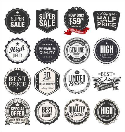 Retro vintage badges and labels