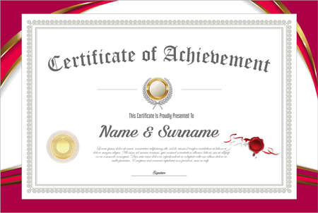 certificate retro design 向量圖像