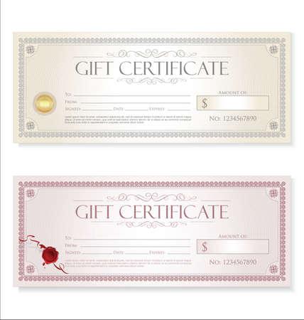 gift certificate retro design