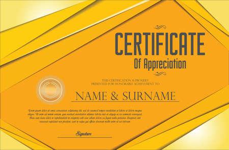 Certificate or diploma template retro vintage design 向量圖像