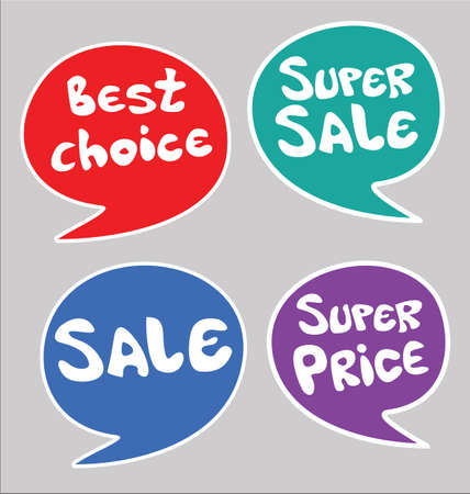 Modern handwritten sale stickers colorful collection