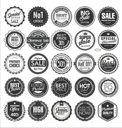 Retro vintage badge and label collection Vetores