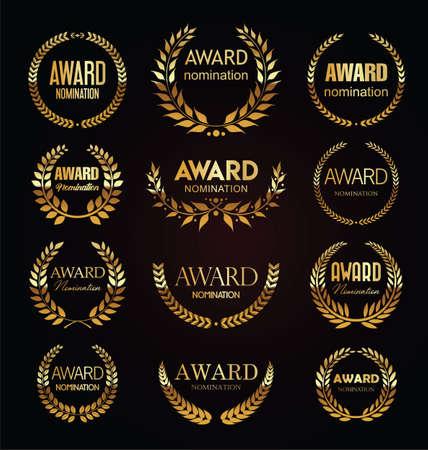 Best choice premium quality and super sale laurel wreath golden collection Vettoriali