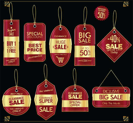 Super sale golden retro badges and labels collection