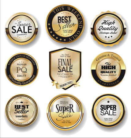 Luxury retro badges and labels collection Vettoriali