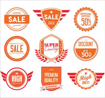 Emblem or badge template with modern concept design