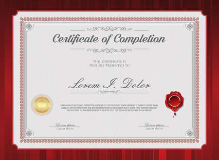 Retro vintage certificate or diploma background Vettoriali
