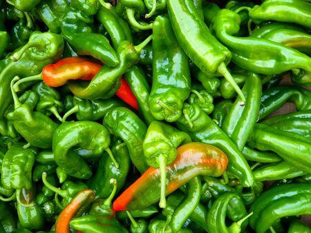 spicey: verde Hot Chili Peppers closeup Archivio Fotografico