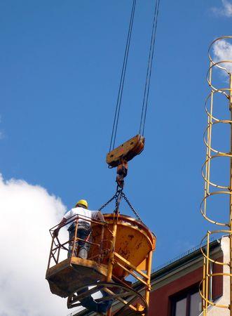 construction worker crane Stock Photo - 4997062