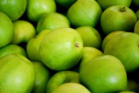 granny smith: fresh green granny smith apples on the market Stock Photo