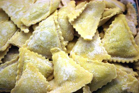 tortellini:  fresh homemade tortellini  Stock Photo