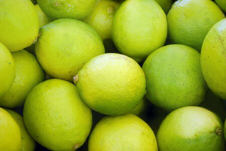 persian green: many fresh limes on the market