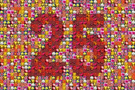 25th: thousands of photos make a mosaic picture of  the number 25