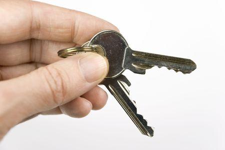 macro of ahnd holding keys Stock Photo - 6837788
