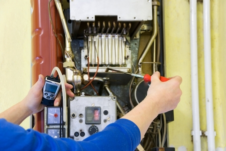 ガス暖房の発煙を測定 aplumber の手