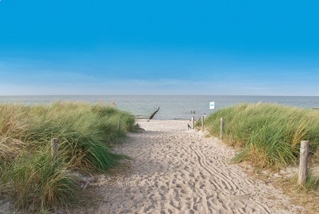 バルト海のドイツの夏のビーチ
