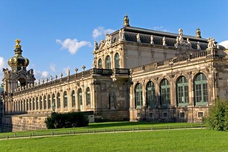 Dresda zwinger edificio in piedi per architettura barocca Archivio Fotografico - 9167884