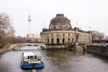 bode: berlin museumsinsel with bode museum and pergamuon museum