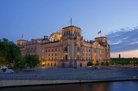 reichstag ベルリン ドイツでドイツの議会の建物 写真素材